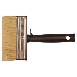 Blokwitter, wit haar, kunststof 4 x 14 cm., 12 stuks