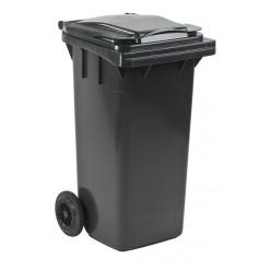 Container mini met wielen, 120 liter