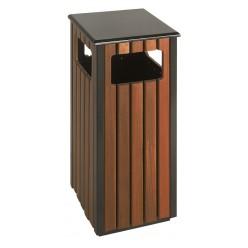 Vierkanten houten buitenbak, 35 x 35 cm,  hoog 78 cm