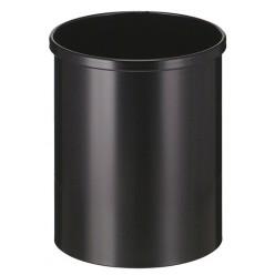 Grijs, papierbak 15 liter, metaal 7035