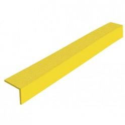 Anti-slip trapneus hoeken voor trappen, geel, 2000x55x55mm