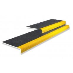 Anti-slip traptrede voor trappen, geel, 1200x345mm