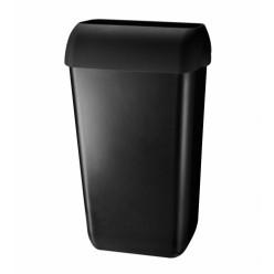 Pearl Black kunststof afvalbak, 23 liter