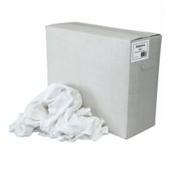 Dunne witte tricot lappen, 10 kilo