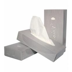 Tissues, facial, 2 laags, 21 x 21 cm, 40 dozen a 100 stuks