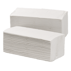 Handdoek wit/crepe 3200 stuks, Z 25 x 25
