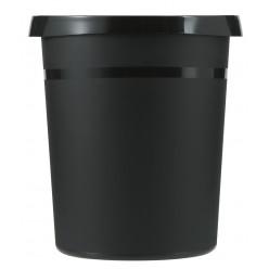 Ronde kunststof papierbak, 18 liter, zwart