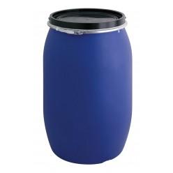 Blauw kunstof ton 120 liter
