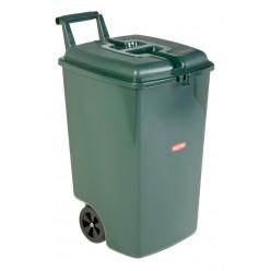 Verrijdbare afvalbak 90 liter, groen