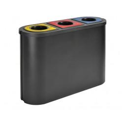 Afvalscheidingsunit. Papier, Kunststof, Restafval. 3x45ltr