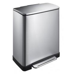 Mat RVS Pedaalemmer rechthoekig 50 liter