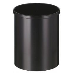 Grijs, papierbak 15 liter, metaal