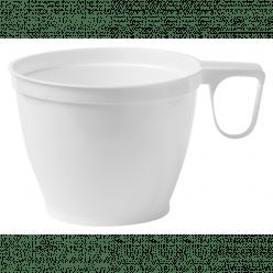 Drinkbeker met oor, PS, 180ml, wit, 20 x 50 stuks