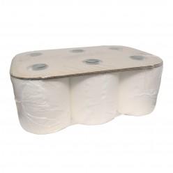 Handdoekrol cellulose, 2lgs, 6 rol, 18cm x 150cm