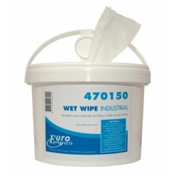 Wet Wipes industrial handcleaner, 4 x 150,  27,5 x 28 cm
