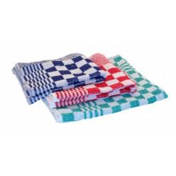 Handdoek ruitje 50 x 50 cm., 10 stuks