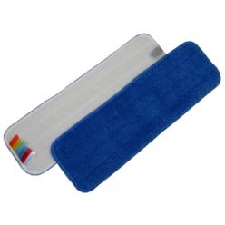 Microvezel mop 44cm blauw met Velcro, + Kleurcodering, 1stuk