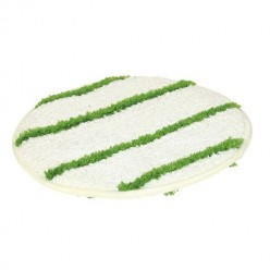 Pad Bonnet 17 inch, tapijtpad groen/wit 1 stuk