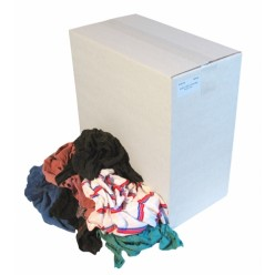 Dikke en dunne bonte tricot lappen, 10 kilo