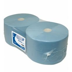 Euro blauw Cellulose, verlijmd, 24 cm x 380 mtr, 2 rol, 3lgs