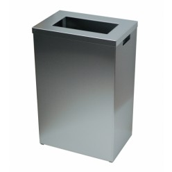 Sanfer afvalbak 50 ltr met open inworp, RVS, Type  A50 E