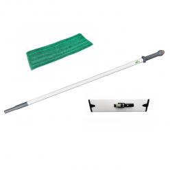 Actieset: steel, mophouder en mop microvezel groen