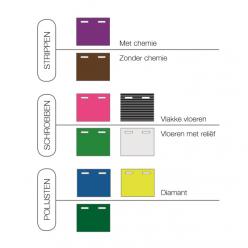 NuPad SQ roze (schrobben), per 5 stuks, 430x250 mm