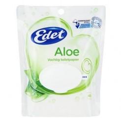 Edet Vochtig Toiletpapier Gentle Aloe, 8 x 40 stuks