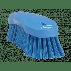 Werkborstel groot, harde vezels, 200mm, blauw