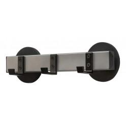 Garderoberek  3 haken magnetisch , 30 cm, zwart/alu