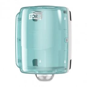 W2 Combiroll dispenser, Wit/turqoise