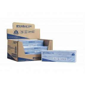 X50 Hydroknit doeken, gevouwen, 25x42 cm, 6x50 stuks blauw