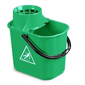 Mopemmer  Easy + wringer voor spaansemop, Groen, 12 liter