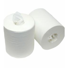 Wit 1 lgs. 20 cm. x 300 meter 6 rol tissue. Zonder koker