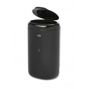 Afvalbak, 5 liter, Zwart met deksel