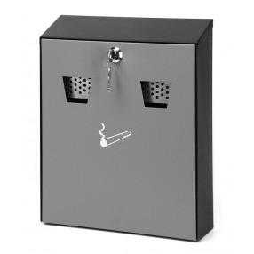 Wandasbak met frontopening, grijs/zwart, 256 x 75 x 320 mm