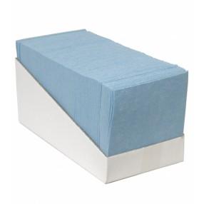 Vlies 38 x 40 cm. gevouwen, blauw, 65 stuks
