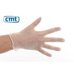 Vinyl handschoen wit gepoederd, 100 stuks, Medium