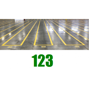 Nummers 0-9, 75 stuks, 9 cm, 1 kleur per set.