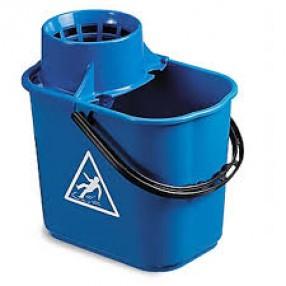 Mopemmer  Easy + wringer voor spaansemop, blauw, 12 liter