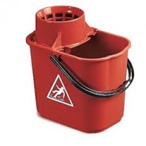 Mopemmer  Easy + wringer voor spaansemop, Rood, 12 liter