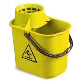 Mopemmer  Easy + wringer voor spaansemop, Geel, 12 liter