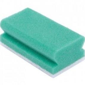 Groen/wit met handgreep, 7,5x14cm, 10 stuks